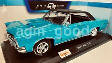 Maisto 1:18 Scale - Pontiac GTO 1965 - Turquoise - Diecast Model Car