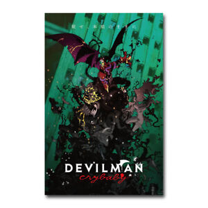 Devilman Crybaby Japanese Anime TV Show Art Silk Poster Print