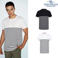 Front Row Short-Sleeve Breton Tag Free T (FR135) - Heavyweight Crew Neck T-Shirt