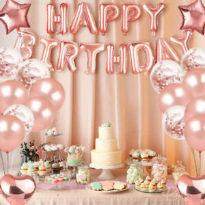 Happy Birthday Balloon Sets with Tassel Banner Bunting Party Decoration 3 Colors