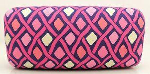 Vera Bradley Sunglasses Case KATALINA PINK DIAMONDS Pattern Large Hard Shell NEW