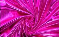 Hot Pink Metallic Foil Apparel Costume Spandex Fabric - Sold By The Yard - 60""