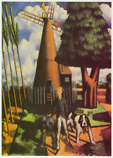 Gilbert Canaan at His Mill, Mark Gertler print  in 10 x 12 inch mount SUPERB