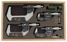 """293-961-30 Mitutoyo Digital Micrometer Set 0-4"""""""