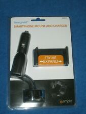 iSimple ISSH6203 Stonghold Smartphone Mount and Charger, New!