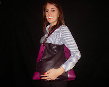 AUTHENTIC ALEANTO COLLEZIONI PURPLE PLUM Leather Shoulder Hobo Handbag Purse