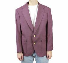 Vintage Mens Blazer 42S Purple Wool Blend Gold Buttons Jacket Sports Coat Sz L