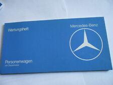 Mercedes Carnet D'Entretien W123 W 123 Diesel Service à la Clientèle Scheckheft