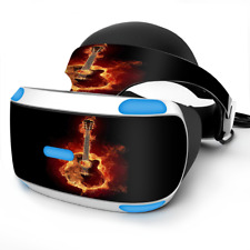 Skin Wrap for Sony Playstation PSVR Headset Guitar in Flames