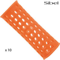 Sibel 10 x 23mm ORANGE Hair Setting Hair Curler Rollers & Roller Pins Skelox