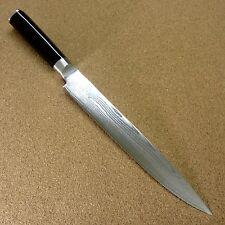 "Japanese KAI SHUN Kitchen Sujihiki Slicing Knife 8.8"" VG-10 Damascus SEKI JAPAN"