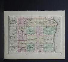 Wisconsin, 1876 County Map, Racine & Kenosha Counties M11#38