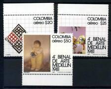 Colombia 1981 Mi. 1470-1472 Nuovo ** 100% Arte a Medellín