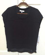 00004000 Nwt Robert Rodriguez Short Sleeves Black Wool/Angora Sheer Layer Sweater Size Xs