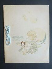 Vintage CHRISTMAS Card 1920s Girl Blowing Bubbles G Lodge Artist H M Burnside