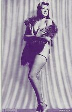 Pin Up- Semi Nude- Vendor Arcade / Mutoscope Card- Fishnet Stockings- Fur Coat