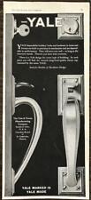 1927 Yale Door Locks & Hardware Print Ad Yale & Towne Mfg Stamford CT