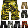 Pants Cargo Shorts Trouser Casual Mens Army Work Camo Combat Military