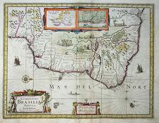 SÜDAMERIKA ACCURATISSIMA BRASILIEN BRASILIAE TABULA HENRICUS HONDIUS ALTKOL 1633