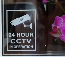 CCTV In Operation 24 Hour Sticker Premises Security Warning Window (STKCN00006)
