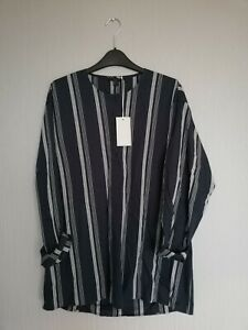 Cos Shirt BNWT Oversized Cotton Stripe Long Sleeve White XS