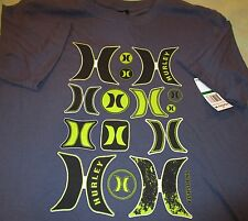 NWT HURLEY INT'L & WOODY'S LONGBOARDS CLASSIC S/S TEE-SHIRTS ~ LOT OF 2 ~ Sz LG