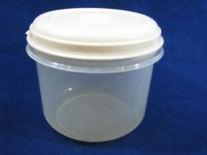 Vtg Rubbermaid #8 6 Cup Round Servin Saver Container Bowl Almond Seal