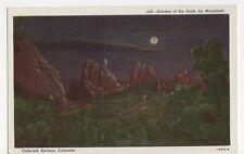 USA, Garden Of The Gods by Moonlight, Colorado Springs Postcard, B232