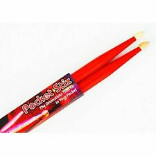 "Rockin' Red Drumsticks Youth Kids Children Pocket Stix 11"" 5A Drum Sticks Pair"