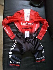Craft Sunweb Renson Speedsuit in long sleeve.