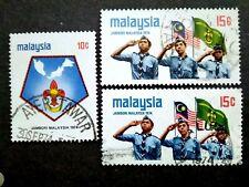 Malaysia 1974 Scout Jamboree Loose Set Short Of 50c + Extra 15c - 3v Used #3