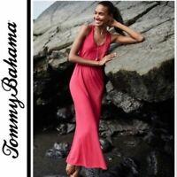 Tommy Bahama $148 Tambour Pink Jersey Sleeveless Beach Maxi Dress Size L