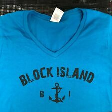 Block Island Ladies V-Neck T-shirt Small