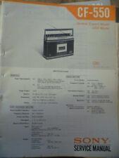 Sony CF-550L Cassette Receiver Service Manual