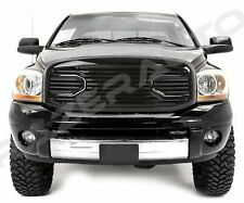Front Gloss Black Big Horn Grille+Replacement Shell fit 06-09 Dodge RAM 2500+350