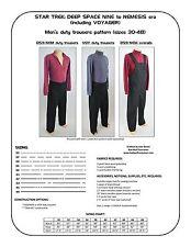 Star Trek Sewing Pattern - Starfleet uniform trousers / pants - DS9, VOY (men's)