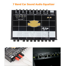 7-BAND Car Audio Graphic Equalizer EQ7 Segment Tuner w/ Front, Rear + Sub Output