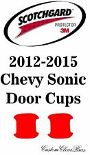 3M Scotchgard Paint Protection Film Pre-Cut Door Cups 2012 2015 Chevy Sonic