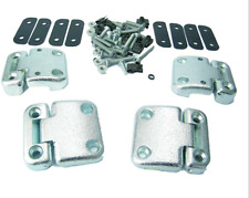 LAND ROVER DEFENDER 90 110 FRONT DOOR HD HINGE KIT DA1070 *STAINLESS BOLTS*