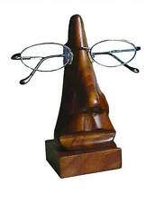 WOODEN SPEC STAND spectacles glasses holder carved shesham wood fair trade NEW!