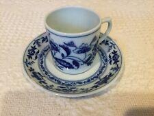New listing Vista Alegre Vintage Demitasse 12 Nib Porcelain, Margao, Mint, Blue & White,