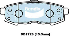 Brake Disc Pad Set Rear Bendix DB1729 GCT For MAZDA MPV LW V6 3L