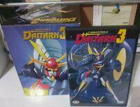 DVD MANGA ROBOT ANIME IMBATTIBILE DAITARN 3 DAITAN 1 + COFANETTO BOX CONTENITORE