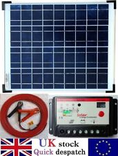 20w Solar Panel c/w 10A Charger Controller and 4m Cable + fuse for 12v Batttery