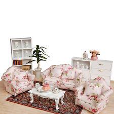 1:12 Floral Living Room Furniture Set For Miniature Dollhouse Accessory DecorDIY
