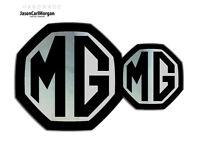 MG ZS LE500 MK2 Badge Inserts Front & Rear Set 59mm/95mm Black/Chrome Badges