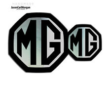 MG ZS LE500 MK2 Badge Inserts Front Grill & Rear Boot Set 59mm/95mm Black/Chrome