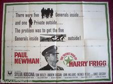 Cinema Poster: SECRET WAR OF HARRY FRIGG, THE 1968 (Quad) Paul Newman
