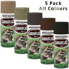 RUSTOLEUM Camouflage Spray Paint Cans 5pk Combat Hunting Rust-Oleum Camo Paint