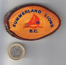 RARE BIG PINS PIN'S BROCHE 3D .. LIONS CLUB VOILIER VOILE BOIS SUMMERLAND B.C~13